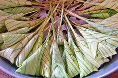 Dessert tailandese, Khanom Tom Thai Language Immagini Stock