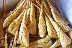 Dessert tailandese, Khanom Tom Thai Language Fotografie Stock
