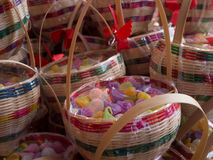 Dessert tailandese in oggetto di vimini Fotografie Stock