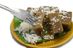 Dessert tailandese sul piatto Fotografie Stock