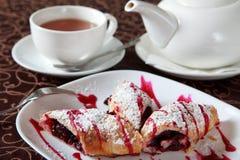 Dessert with tea Stock Photo