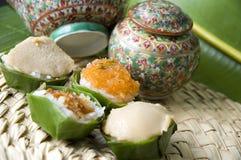 Dessert thaï de vieux type photographie stock