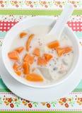 Dessert thaï, légumes mélangés en lait de noix de coco Images stock