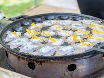 Dessert thaïlandais d'amidon de riz, de sucre et de lait de noix de coco Photos libres de droits