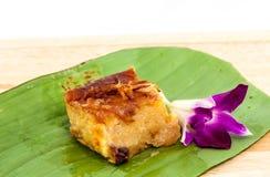 Dessert thaïlandais de crème anglaise Images stock