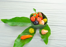 Dessert thaïlandais de fruit photos stock
