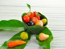 Dessert thaïlandais de fruit images libres de droits