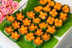 Dessert thaïlandais, Doonghiib, pâte de haricot, boules de fondant de jaune d'oeuf cuites Photo libre de droits