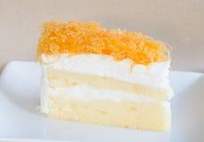 Dessert thaïlandais, gâteau de Foythong Images libres de droits