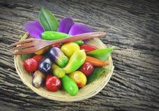 Dessert thaïlandais traditionnel Photographie stock libre de droits