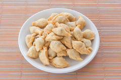 Dessert in thailand. Curry puff ,a kind of dessert in thailand Stock Photo