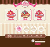 Dessert theme for web template Royalty Free Stock Image