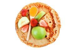 Dessert : thin round pancake Royalty Free Stock Photo