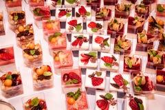Dessert tijdens huwelijk royalty-vrije stock afbeelding