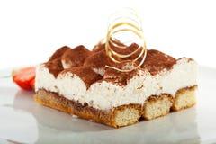 dessert tiramisu Royaltyfri Fotografi