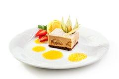 dessert tiramisu Arkivbilder