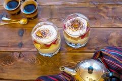 Dessert tiramisu Stock Image