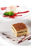 Dessert - Tiramisu Cheesecake Royalty Free Stock Photography