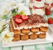 Dessert tiramisu Royalty Free Stock Photos