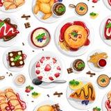 Dessert top view Stock Image