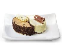 Dessert - torta del Yin-yang Fotografia Stock Libera da Diritti