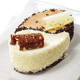 Dessert - torta del Yin-yang Fotografia Stock