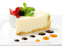 Dessert - torta di formaggio Immagini Stock