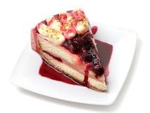 Dessert - torta di formaggio delle bacche Fotografia Stock Libera da Diritti