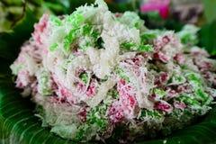 Dessert traditionnel thaïlandais coloré Photo stock