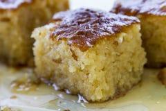 Dessert traditionnel turc Revani Photo libre de droits