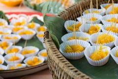 Dessert tradizionale a Bangkok. La Tailandia fotografie stock libere da diritti
