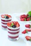 Dessert tradizionale delizioso del dolce della panna cotta Fotografie Stock Libere da Diritti