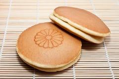 Dessert tradizionale giapponese del pancake di Dorayaki immagine stock