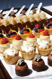 Dessert Tray assorted Stock Image