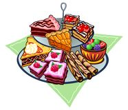 Dessert Tray Stock Images