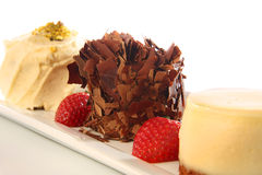 Dessert trio Stock Photo