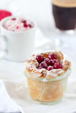 Dessert trio with coffee Royalty Free Stock Photos
