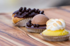 Dessert trio Royalty Free Stock Photography