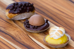Dessert trio Royalty Free Stock Photos