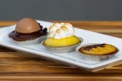 Dessert trio Royalty Free Stock Photos