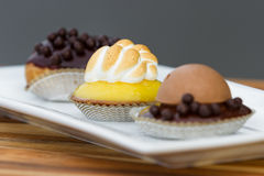 Dessert trio Stock Photos