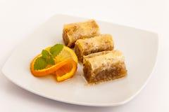 Dessert turc de baklava Image libre de droits