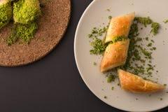 Dessert turco con fondo speciale Fotografia Stock
