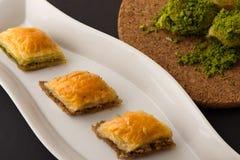 Dessert turco con fondo speciale Immagini Stock
