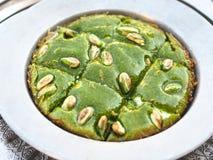 Dessert turco con la pasta del pistacchio dolce; regione di Turchia-Gaziantep fotografia stock