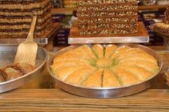 Dessert turco del baklava Fotografie Stock