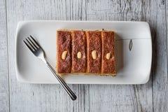 Dessert turco Sambali, Sambaba o Damasco immagini stock