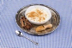 Dessert turco Sutlac/budino di riso fotografie stock libere da diritti