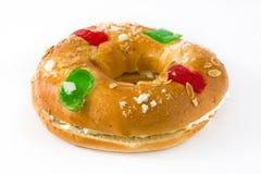 Dessert typique d'Espagnol de ` de Roscon de Reyes de ` d'épiphanie Photos libres de droits