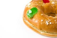 Dessert typique d'Espagnol de ` de Roscon de Reyes de ` d'épiphanie Images libres de droits